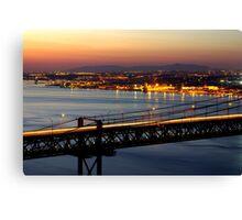 Bridge Over Tagus Canvas Print