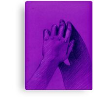 hand with shadow Canvas Print