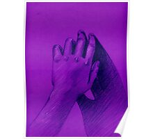 hand with shadow Poster