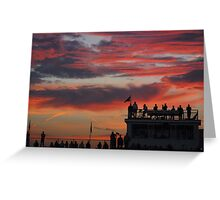 Sunset Fans Greeting Card