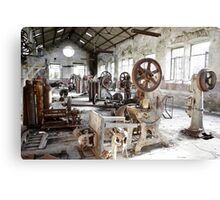 Rusty Machinery Canvas Print
