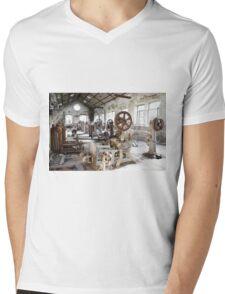 Rusty Machinery Mens V-Neck T-Shirt