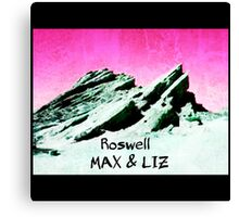 roswell tv show pink sky Max & Liz Canvas Print