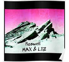 roswell tv show pink sky Max & Liz Poster