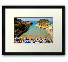 Lovers bay in Corfu Framed Print