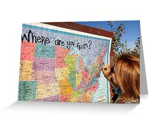 Where are you from? Greeting Card