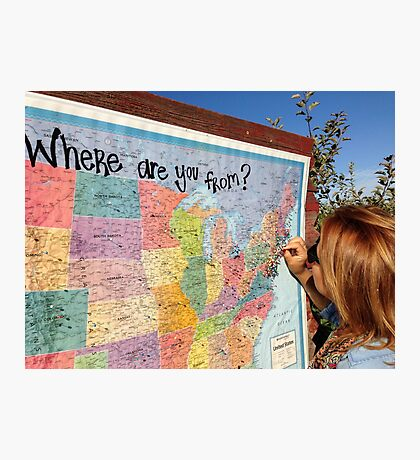 Where are you from? Photographic Print