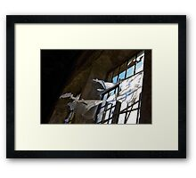 Rusty window Framed Print