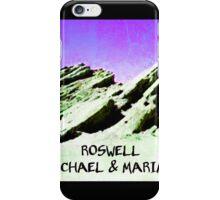 roswell tv show purple sky Michael & Maria iPhone Case/Skin