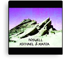 roswell tv show purple sky Michael & Maria Canvas Print