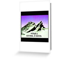 roswell tv show purple sky Michael & Maria Greeting Card