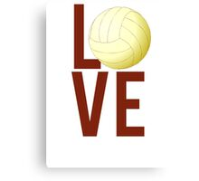 Love Volleyball Canvas Print