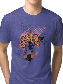 Funky Dollie Bloom Hair Tri-blend T-Shirt
