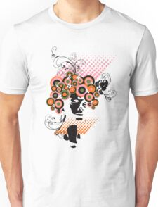 Funky Dollie Bloom Hair Unisex T-Shirt