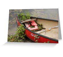 Red Canoe Greeting Card