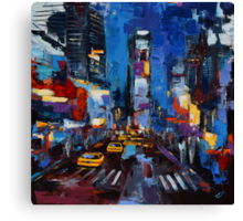 Saturday night in New York Canvas Print