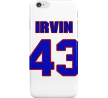 National football player Irvin Mallory jersey 43 iPhone Case/Skin