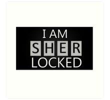 'I Am Sherlocked' Art Print