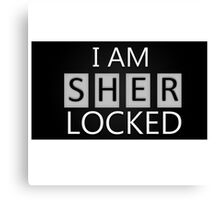 'I Am Sherlocked' Canvas Print