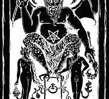 The Devil Tarot card by Shayne of the Dead by ShayneoftheDead