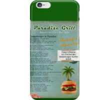 Cheeseburger in Paradise Jimmy Buffet Tribute Menu  iPhone Case/Skin