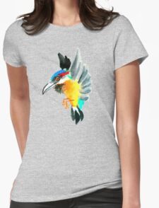 Watercolor Brush Stroke Kingfisher T-Shirt