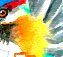 Watercolor Brush Stroke Kingfisher Sticker