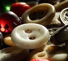 VINTAGE BUTTONS by Sandra  Aguirre