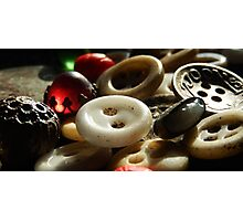 VINTAGE BUTTONS Photographic Print