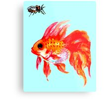 Cicada and Goldfish Metal Print