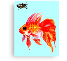 Cicada and Goldfish Canvas Print