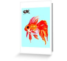 Cicada and Goldfish Greeting Card