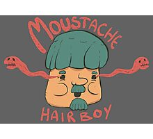 Moustache Hairboy Photographic Print