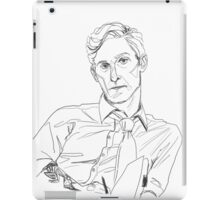 Rust Cohle line art iPad Case/Skin