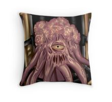 Dalek out of armor     Throw Pillow