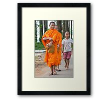 Young Monks Framed Print