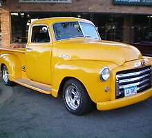 48 GMC Yellow Pick up by Diane Trummer Sullivan