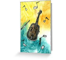 Fiddle Notes Greeting Card