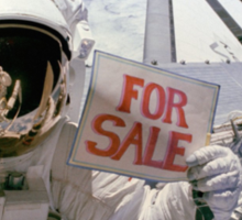 Space Shuttle For Sale Sticker
