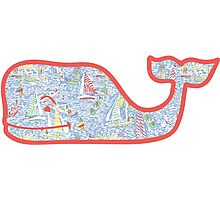 Lilly Pulitzer Whale Get Nauti Photographic Print