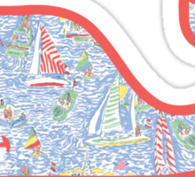 Lilly Pulitzer Whale Get Nauti Sticker