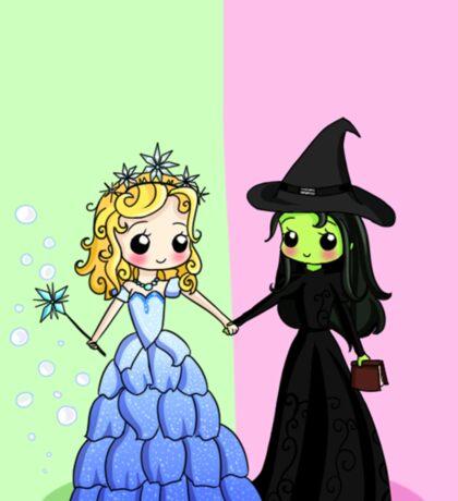 Elphaba & Glinda Sticker