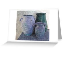 Stoneware Pottery-Art Prints-Mugs,Cases,Duvets,T Shirts,Stickers,etc Greeting Card