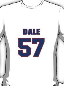 National football player Dale Farley jersey 57 T-Shirt