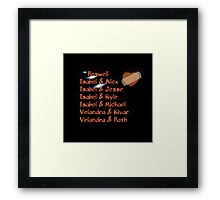 roswell tv show Isabel and her many loves Framed Print