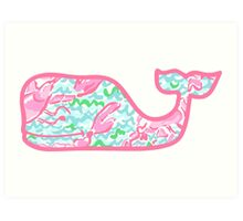 Lilly Pulitzer Whale Lobstah Roll Art Print