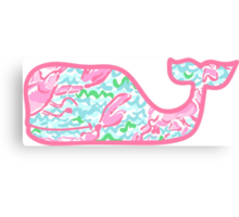 Lilly Pulitzer Whale Lobstah Roll Canvas Print