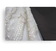 the wedding gown details Metal Print