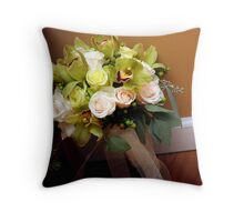 a bride's bouquet Throw Pillow