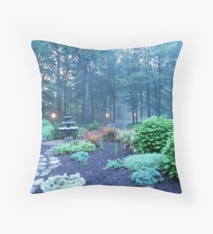 Fog and Twighlight Throw Pillow